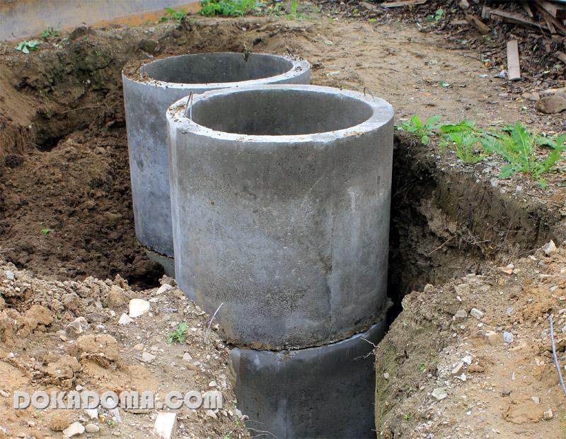 Сделать канализацию из колец в частном доме своими руками
