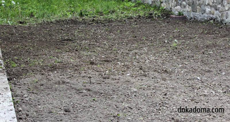 разравнивание участка под газон